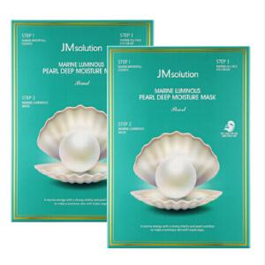 JMsolution海洋珍珠水光三部曲面膜贴嫩白提亮10片/盒