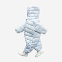 婴儿连体衣新生儿外出抱衣服秋冬季哈衣男女宝宝冬装棉衣爬服