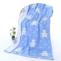 婴儿浴巾棉超柔沙布吸水儿童专用薄款夏季盖的薄单子棉纱布宝宝