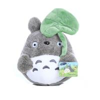 龙猫公仔毛绒玩具大抱枕布娃娃玩偶婚庆结婚礼品儿童生日礼物 灰色 正版荷叶龙猫