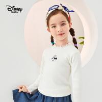 618【3件3折:60.3元】迪士尼女童打底衫幻想即兴曲女童针织半高领打底毛衣秋季