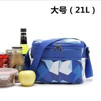 男女户外冰包午餐手提袋带饭包 简约收纳袋加厚保温便当包饭盒袋