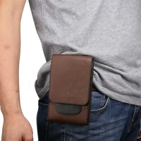 手机包腰包男穿皮带竖款5.56.5寸多功能运动腰带挂包双层登山包