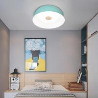 雷士照明 简约马卡龙原木卧室吸顶灯创意个性圆形客厅书房灯具