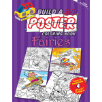 Build a 3-D Poster Coloring Book -- Fairies