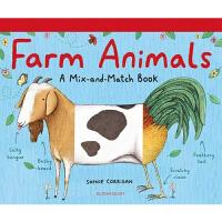 农场动物动物混搭书 Farm Animals 英文原版 儿童启蒙活动书 动物认知趣味创意活动翻翻书游戏书 进口书籍正版