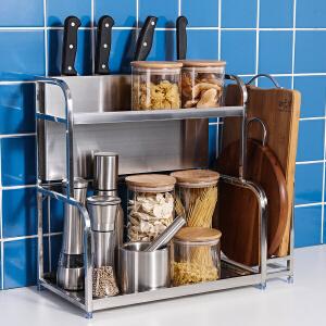 【满减】ORZ 不锈钢二层调味料架 厨具收纳架