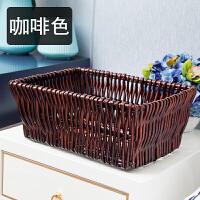 零食整理盒框编织水果展示篮蔬菜收纳筐收纳筐藤编储物盒猫窝篮子