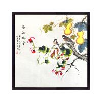 新中式客厅装饰画现代简约沙发背景墙挂画三联抽象画壁画餐厅画