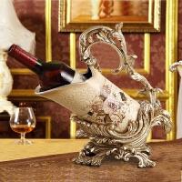 家具摆件奢华家居装饰品红酒架摆设欧式工艺品客厅酒柜装饰品