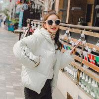 2018冬季新款chic棉衣短款笑脸情侣ulzzang学生面包服羽绒潮