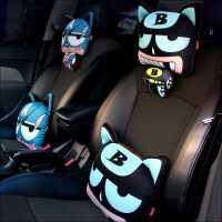 汽车头枕靠枕护颈枕腰靠颈椎座椅车枕头车用车载个性卡通可爱创意