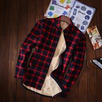 冬季纯棉加绒加厚保暖衬衫男长袖修身格子韩版青年学生大码衬衣潮