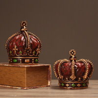 欧式复古创意皇冠摆件家居装饰品电视柜餐厅酒吧办公室摆设工艺品
