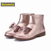 【3件3折价:71.7】巴拉巴拉女童冬季鞋靴子新款儿童公主保暖小童鞋加绒短筒靴潮