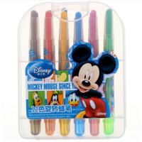迪士尼 儿童卡通学生绘画文具 12/18/24色 盒装可旋转蜡笔套装