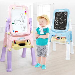 儿童二合一磁性双面画架 黑板白板支架式画板写字板涂鸦绘画玩具