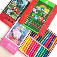 Endu恩都儿童蜡笔安全无毒可水洗画笔旋转美图乐蜡笔套装幼儿园油画棒