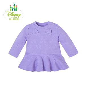 迪士尼Disney女童拼接下摆肩开扣长袖上衣163S867