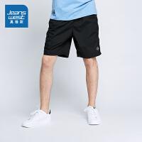 真维斯简约休闲裤男 2018夏装新款男装韩版宽松短裤青年沙滩裤子潮