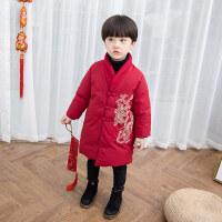 男宝宝拜年服男童唐装儿童新年装中国风改良冬装加厚过年喜庆衣服