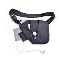 男士胸包单肩斜挎运动背包多功能贴身防休闲潮女小包