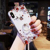 奢华水钻苹果X手机壳女新款iPhone7plus透明个性创意6s全包防摔8p 7PLUS 请备注颜色