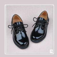 20191124032625946喜言熊 男女童皮鞋舞蹈鞋主持黑白色亮面皮鞋学生大合唱黑白色