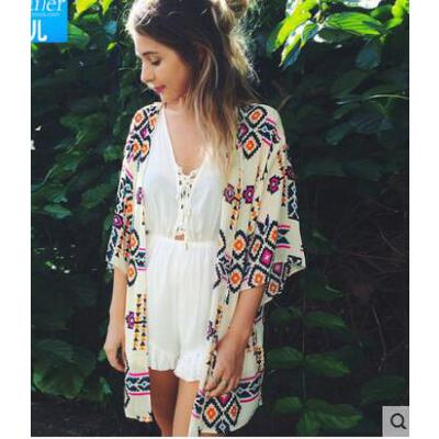 户外新款开衫沙滩裙蕾丝半透明性感女裙全身裙钩花度假裙披纱长裙 品质保证 售后无忧 支持货到付款
