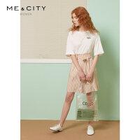 87.8,6月5日仅此一天】MECITY女装2019夏季新款韩版时尚撞色条纹短裤