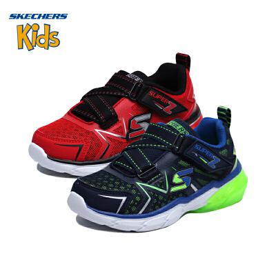 斯凯奇 (SKECHERS) 儿童鞋 男童女童防滑Z型搭带鞋 运动童鞋 舒适休闲鞋(4岁—12岁以上)斯凯奇秋季新款
