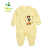 【99元3件】迪士尼Disney 婴儿连体衣纯棉新生儿内衣侧开扣爬服153L663