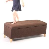 储物凳前脚床尾凳卧室实木换鞋凳欧式沙发凳穿鞋凳布艺沙发凳