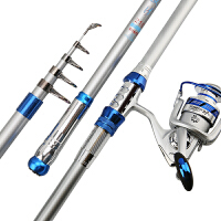 海竿套装碳素硬远投竿海杆3.94.5米抛竿海钓竿渔具 尊贵银2.1米单杆 +爆炸钩