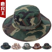 迷彩帽遮阳圆边帽男帽奔尼帽平顶迷彩帽子男特种兵作训帽