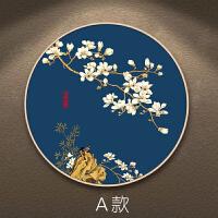 新中式装饰画中国风圆形挂画养生馆客厅餐厅玄关墙面装饰饭店壁画
