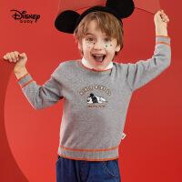 【今日3折�A估�r:52.4元】迪士尼男童�棉打底毛衫春秋新款童�b�����和�洋�馓最^上衣潮