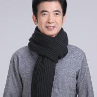 围巾男冬季中老年保暖围脖冬天中年老人爸爸商务休闲围巾