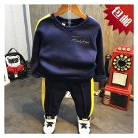 韩国童装冬季新款男童加厚韩版休闲运动上衣+裤子2件套装B6-S22