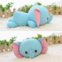 泡沫粒子趴趴动物软体玩具小黄鸭大象熊猫娃娃女朋友宝宝生日礼物 30厘米