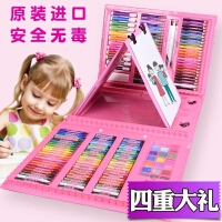 儿童画画笔套装绘画套装水彩笔蜡笔文具画画学习用品美术彩笔套装