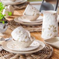 爱屋格林餐具套装家用景德镇陶瓷碗碟盘组合简约个性创意4人6人
