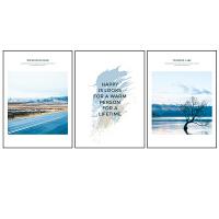 北欧风客厅装饰画沙发背景墙挂画风景画唯美海景现代简约卧室壁画 6820-S 6821-S 6822-S