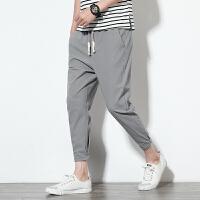 夏季新款九分大码棉麻休闲裤男 K35303AJS