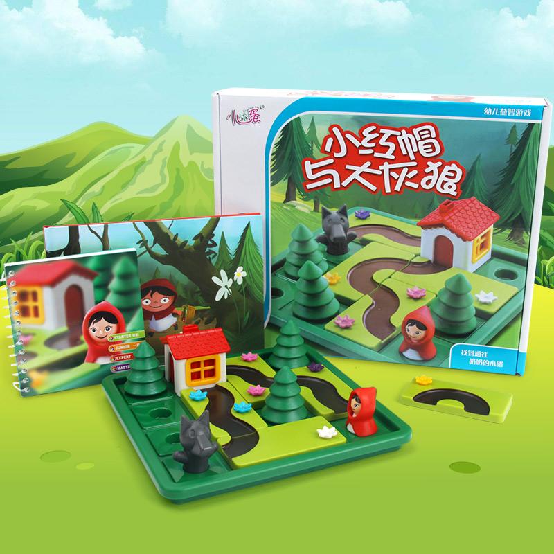 小乖蛋 小红帽与大灰狼桌面逻辑思维智力游戏 儿童益智闯关玩具益智玩具限时钜惠