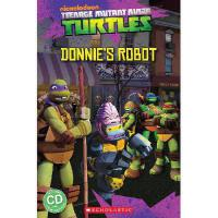 英文原版 忍者神龟:唐尼的机器人(书+CD)Teenage Mutant Ninja Turtles: Donnie's