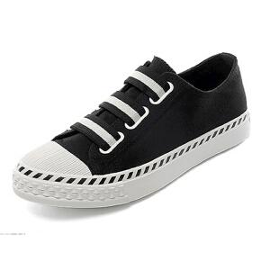 乌龟先森 帆布鞋 女士新款春季韩版学生原宿球鞋女式平底百搭魔术贴小白鞋时尚鞋子