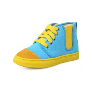 比比我女童帆布鞋2017春秋新款儿童帆布鞋女高帮休闲鞋潮