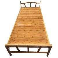 单人床1.2m米办公室家用木质轻便可折叠床午休床竹床