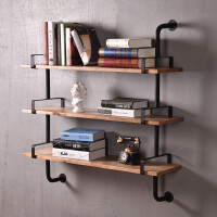 创意墙上置物架客厅墙壁实木装饰架隔板卧室上墙壁挂书架现代简约